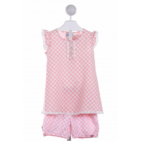 SHRIMP & GRITS  PINK  GINGHAM  2-PIECE OUTFIT
