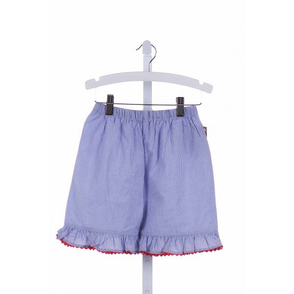SHRIMP & GRITS  BLUE  GINGHAM  SHORTS WITH RIC RAC