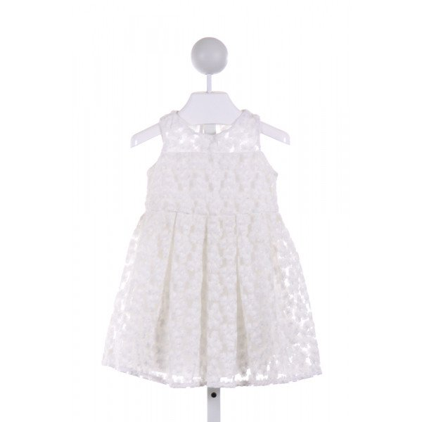 MILLY  WHITE TULLE FLORAL  DRESS