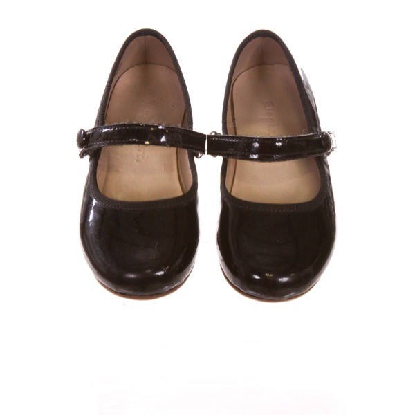 ELEPHANTITO BLACK SHOES *SIZE 7, VGU - SLIGHT SCUFFING