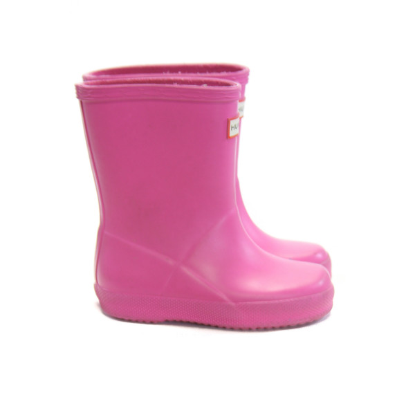 HUNTER HOT PINK BOOTS *SIZE 8, VGU - MINOR DISCOLORATION AND SCUFFING