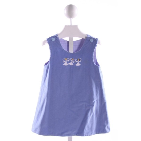 JUST DUCKY  BLUE CORDUROY  EMBROIDERED DRESS