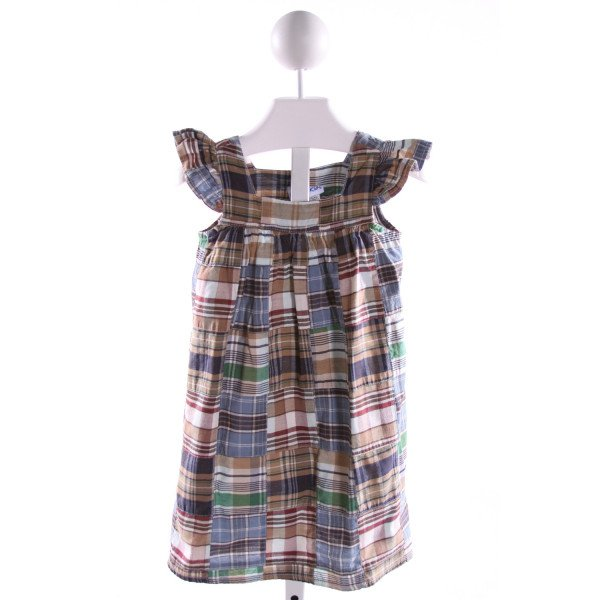KELLY'S KIDS  MULTI-COLOR  PLAID  DRESS WITH RUFFLE