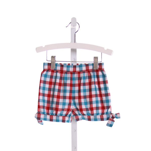 KELLY'S KIDS  MULTI-COLOR  GINGHAM  SHORTS