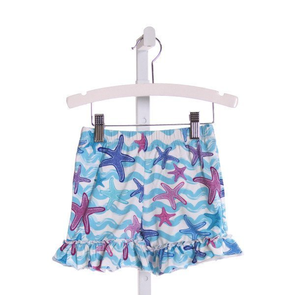 KELLY'S KIDS  MULTI-COLOR   PRINTED DESIGN SHORTS WITH RUFFLE