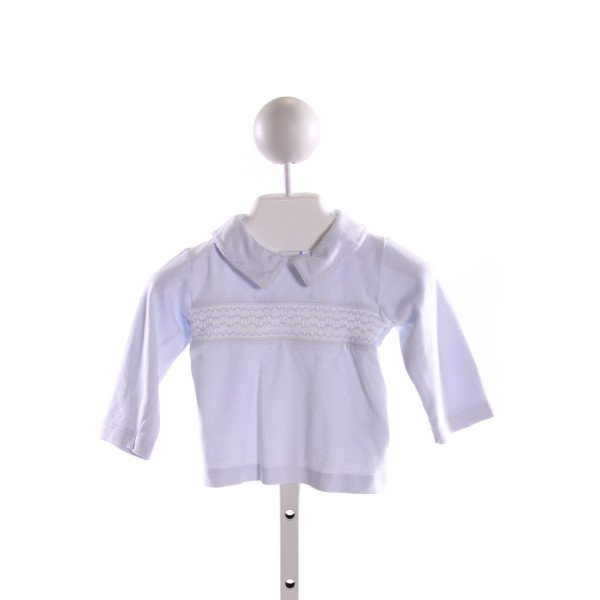 HUG ME FIRST  LT BLUE   SMOCKED KNIT LS SHIRT  (E)