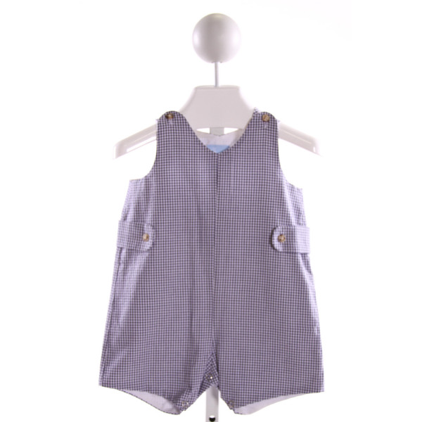 BELLA BLISS  BLUE  GINGHAM  JOHN JOHN/ SHORTALL  (E)