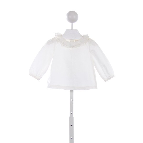 JANIE AND JACK IVORY TOP WITH RUFFLE COLLAR *SIZE 12-18 MONTHS