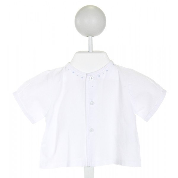 PETIT AMI  OFF-WHITE   EMBROIDERED CLOTH SS SHIRT