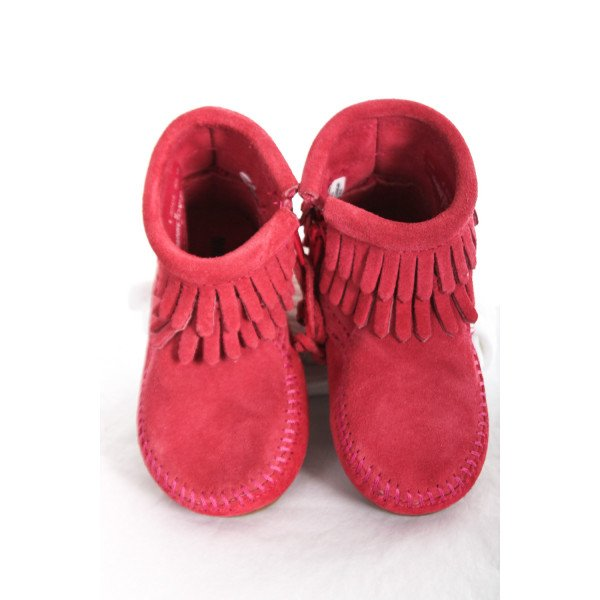 MINNETONKA HOT PINK BOOTS TODDLER SIZE 5