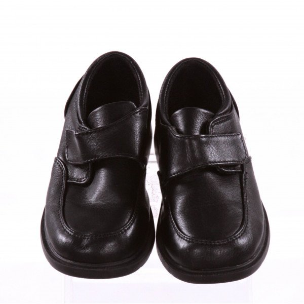 MAX + JAKE BLACK SHOES WITH VELCRO STRAP *SIZE 10, EUC - TINY DISCOLORATIONS NEAR TOE