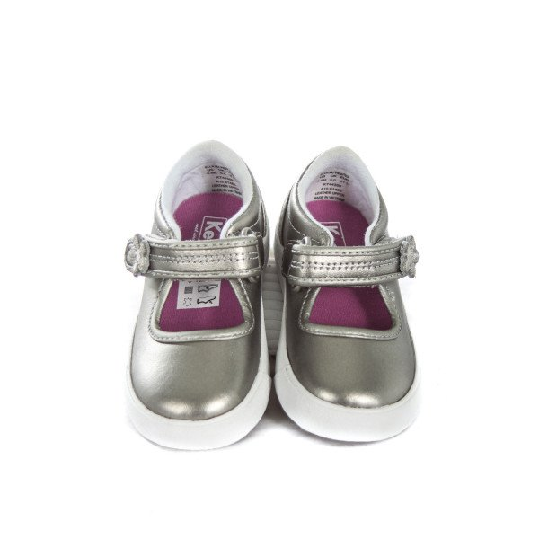 KEDS SILVER SHOES TODDLER SIZE 5.5