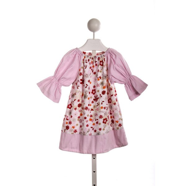 HANNAH KATE PINK AND RED FLORAL PEASANT DRESS