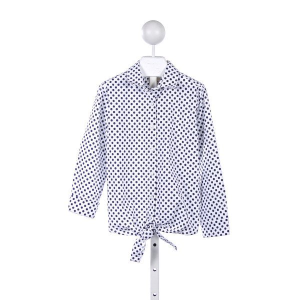 MAX & DORA NAVY POLKA-DOT TIE TOP