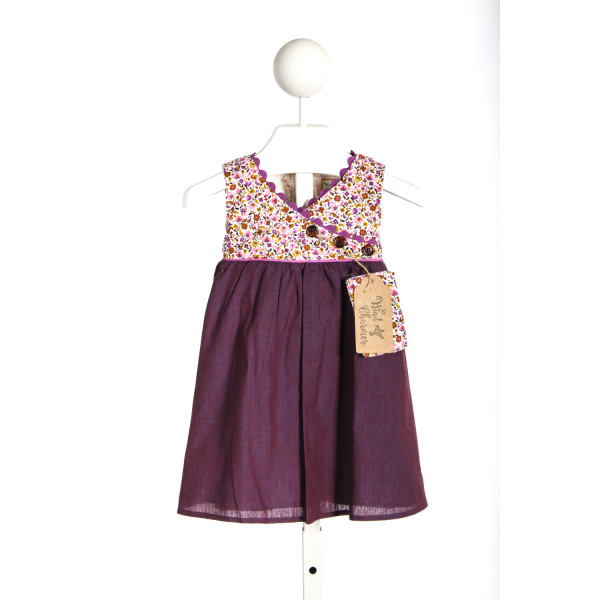 WINDCHARMER PURPLE DRESS WITH PURPLE FLORAL