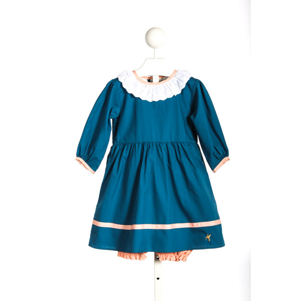 WINDCHARMER BLUE DRESS WITH PEACH BLOOMERS