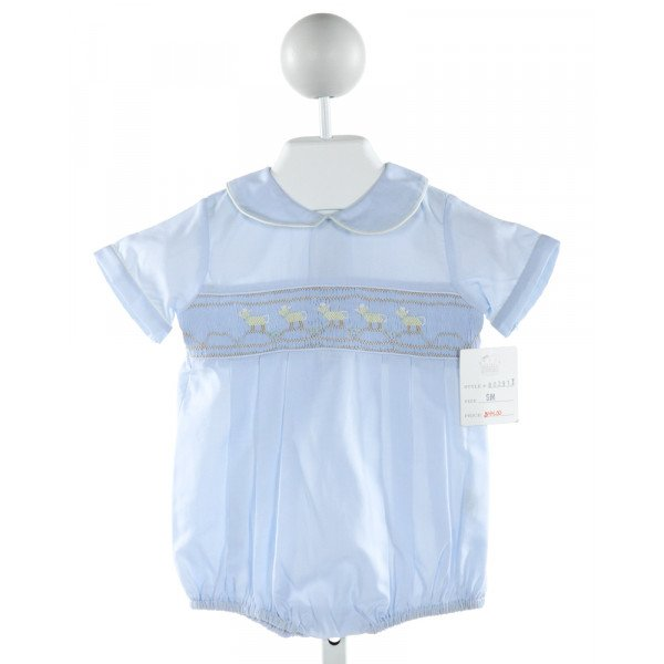 ROYAL CHILD  LT BLUE   SMOCKED BUBBLE