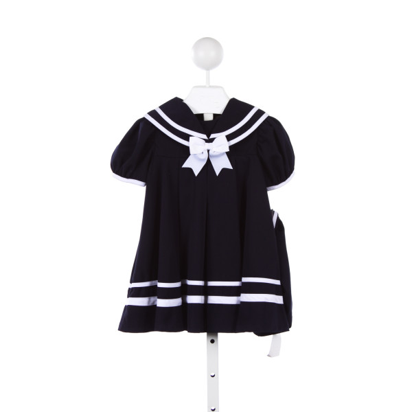 RARE EDITIONS NAVY AND WHITE SAILOR DRESS WITH MATCHING HAT