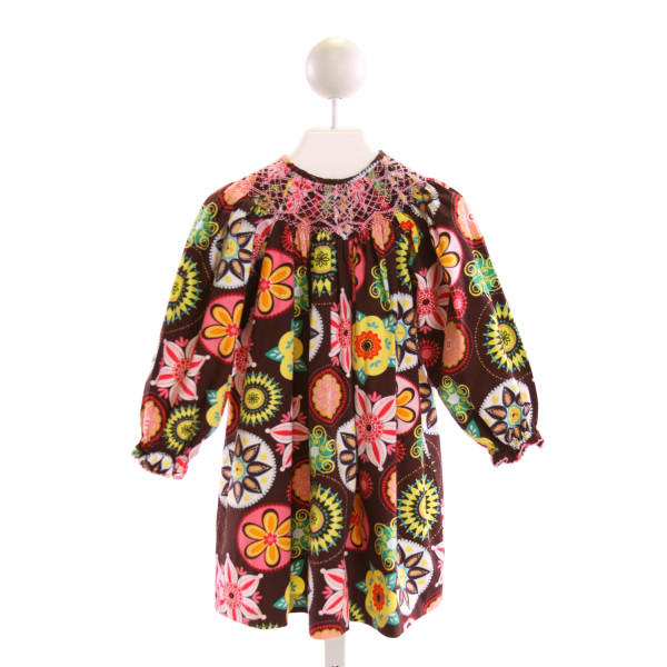 MARMELLATA  MULTI-COLOR  FLORAL SMOCKED DRESS WITH RUFFLE
