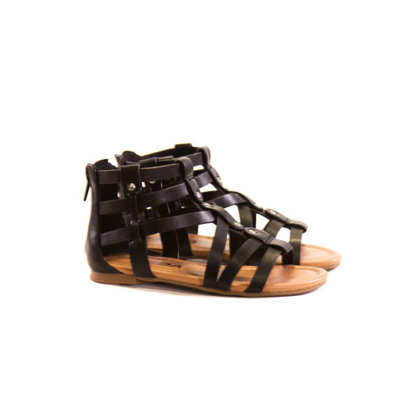 SODA BLACK SANDALS *SIZE 9, EUC