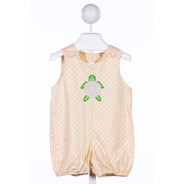 LOLLIPOP LAUNDRY  KHAKI  POLKA DOT APPLIQUED JOHN JOHN/ SHORTALL