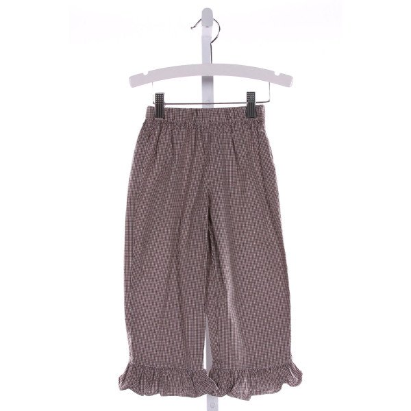 RAGSLAND  BROWN  GINGHAM  PANTS WITH RUFFLE