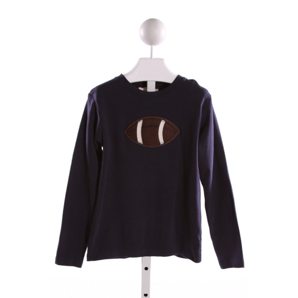 HANNAH KATE  NAVY   EMBROIDERED KNIT LS SHIRT