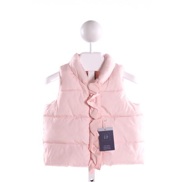 GAP  LT PINK    VEST WITH RUFFLE