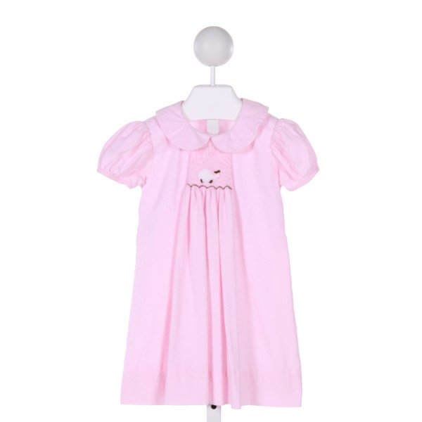 BENOIT & MATISSE  PINK CORDUROY  SMOCKED DRESS